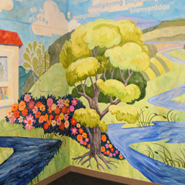Welcome Mural Tree